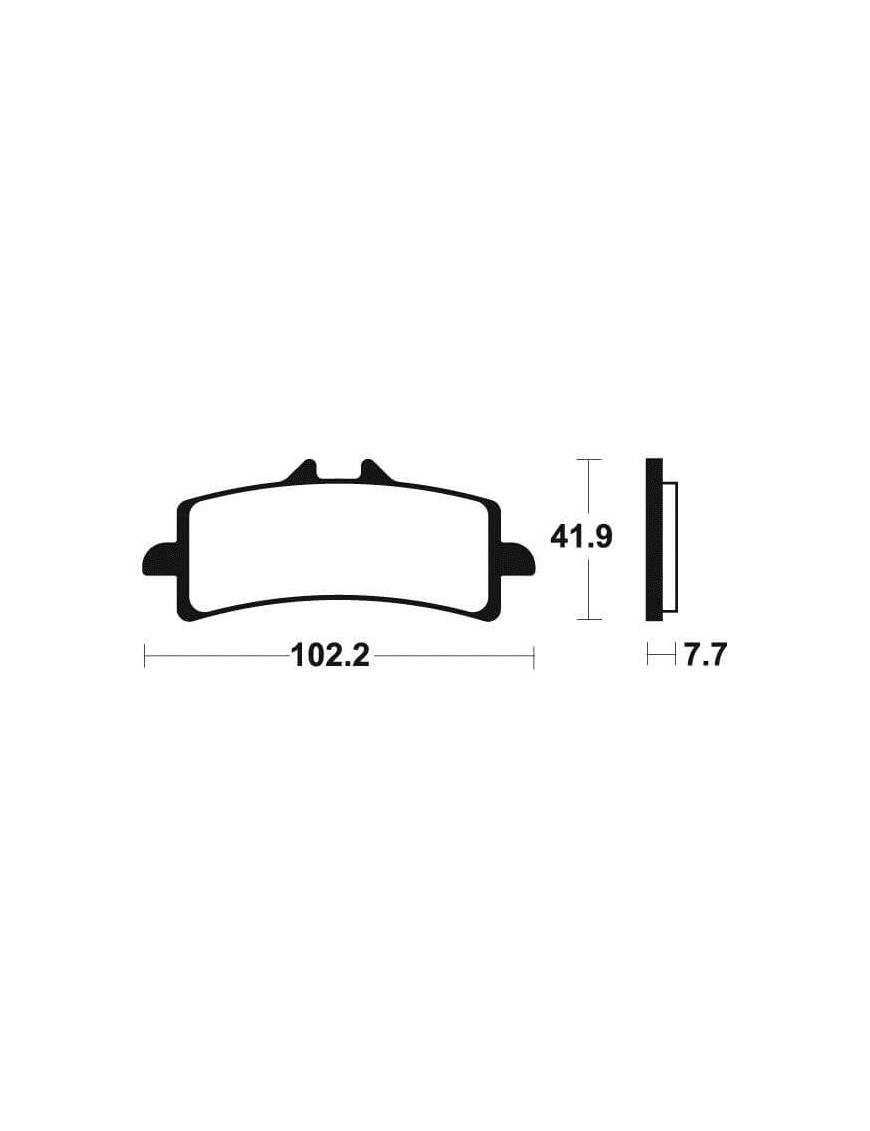 Brake pads Tecnium MF341 sintered metal