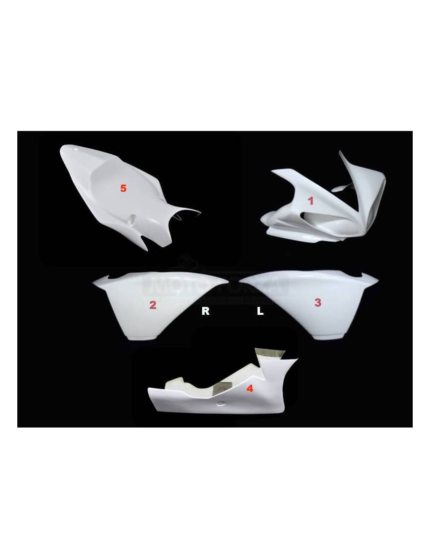 Fairing kit 5 parts Motoforza Yamaha YZF-R1 2009 to 2014
