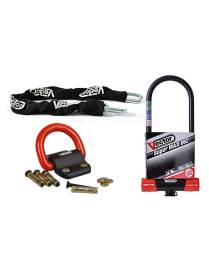 Vector Anti-theft Kit Chain 1.30m + MC Super MAX XXXL U-lock + Ground Anchor Compac Blok