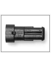 Universal electrical connector bipolar male