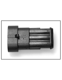 Universal electrical connector tripolar male