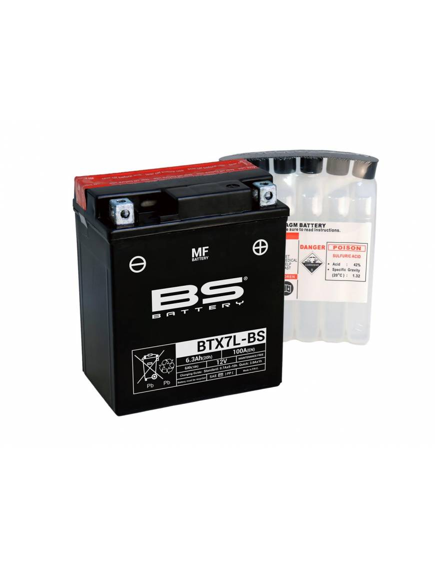 Batterie BS BTX7L-BS 6Ah 12V