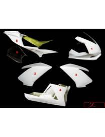 Kit carénages piste 6 pièces Motoforza Aprilia RSV4 Factory 2009 à 2013