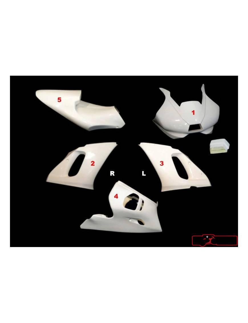 Kit carénages piste 5 pièces Motoforza Yamaha R6 1999 à 2002