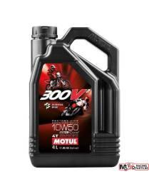 Huile Motul 300V2 10W50 100% Synthèse - 4 Litres