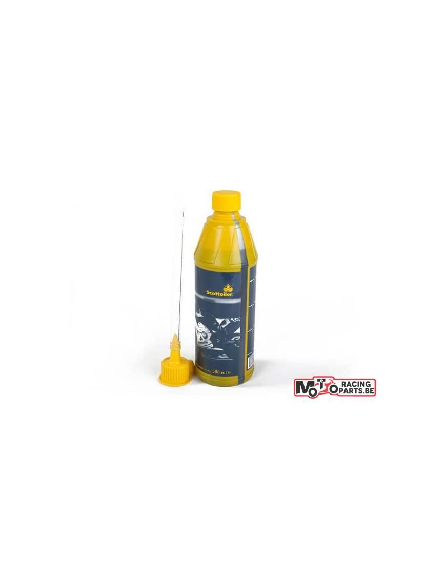Bidon recharge huile Scottoiler kits eSystem et vSystem bleu 0-30°C 500ml