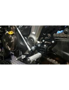Commandes reculées PP Tuning Yamaha MT07/ABS/MotoCage/Tracer 2014 à 2018