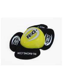 Knee sliders R&G  Aero - Yellow