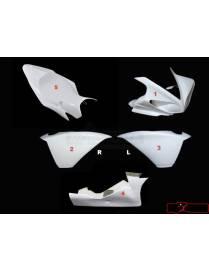 Kit carénages piste 5 pièces Motoforza Yamaha YZF-R1 2009 à 2014