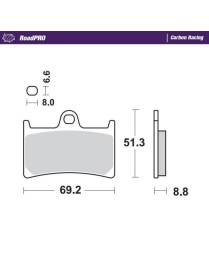 Brake pads Moto-Master RoadPro racing carbon Yamaha R1 / R6