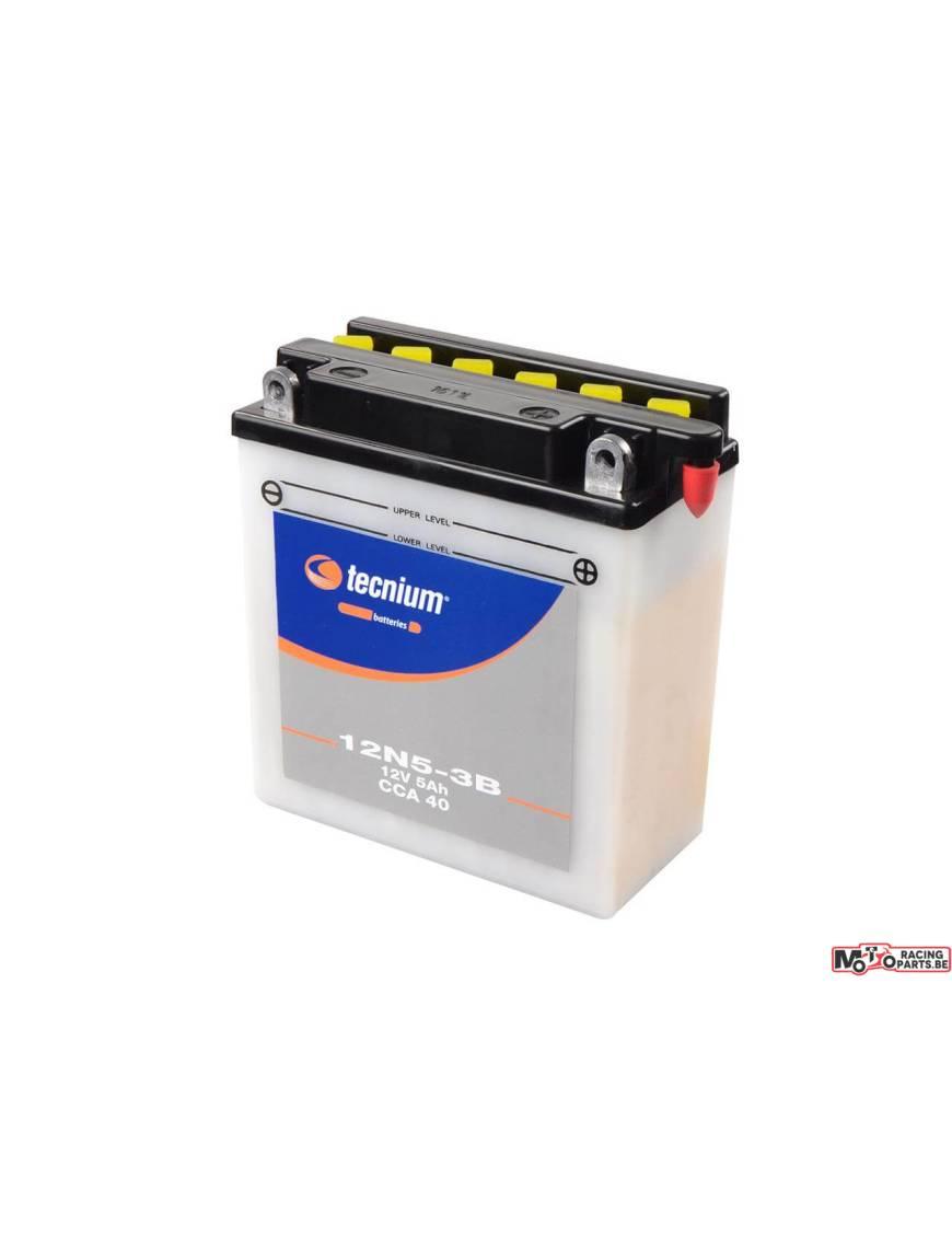 Battery Tecnium 12N5.5-3B 5,5Ah pack acid 138x61x131mm
