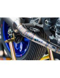 Exhaust line stainless steel Spark Force Yamaha YZF-R1 2015 to 2018