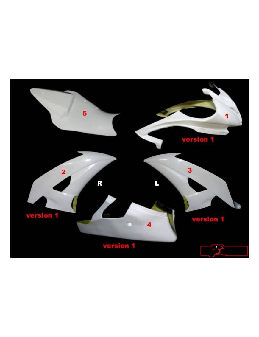 Kit carénages piste 5 pièces Motoforza Yamaha YZF-R6 2008 à 2013