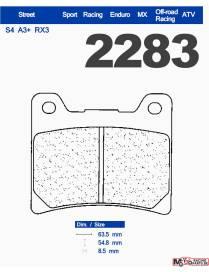 Brake pads Carbone Lorraine XBK5 Yamaha YZF-R1 / MT-01 / XV 1700