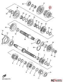 Pignon transmission 5ème 13S172510000 Yamaha YZF-R6 2008 à 2020