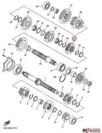 Pignon transmission 6ème 2C0172610000 Yamaha YZF-R6 2008 à 2020