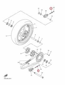 Bolt chain adjuster Yamaha YZF-R6 2006 to 2016