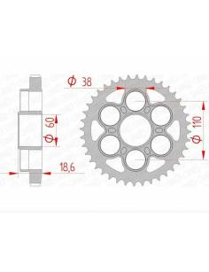 Steel rear sprocket AFAM serie 53050900Ducati Multistrada 1200/1260