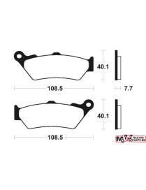 Brake pads Rear Tecnium MR174 sintered metal BMW