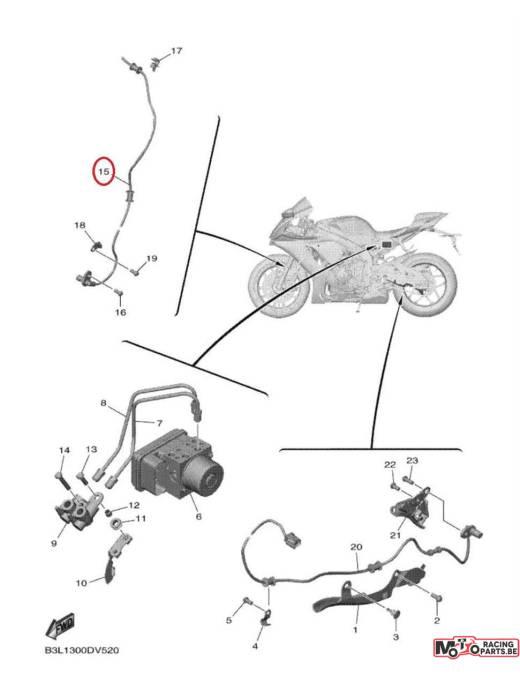 Sensor front wheel Yamaha YZF-R1 15/20 + MT-10 16/20