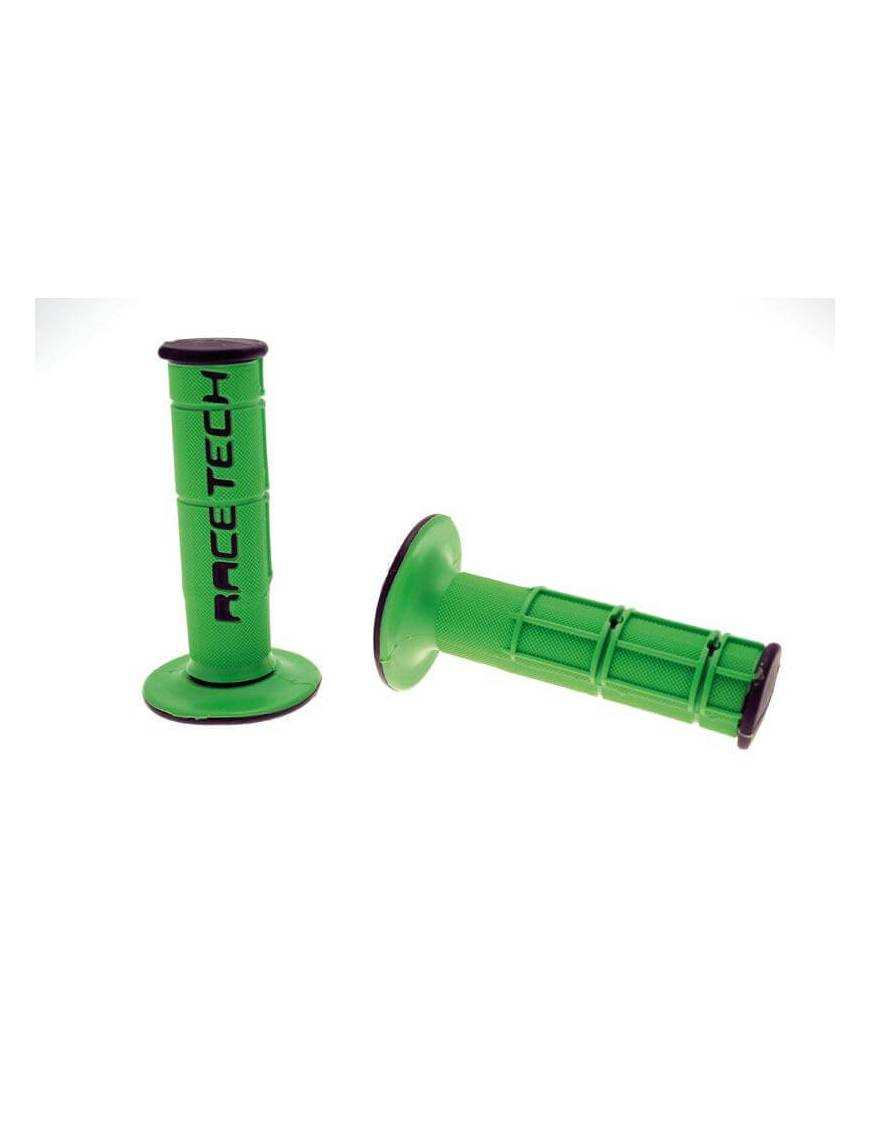 Coating handlee RACETECH Dual Grip Green / Black Kawazaki