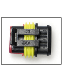 Universal electrical connector tripolar female
