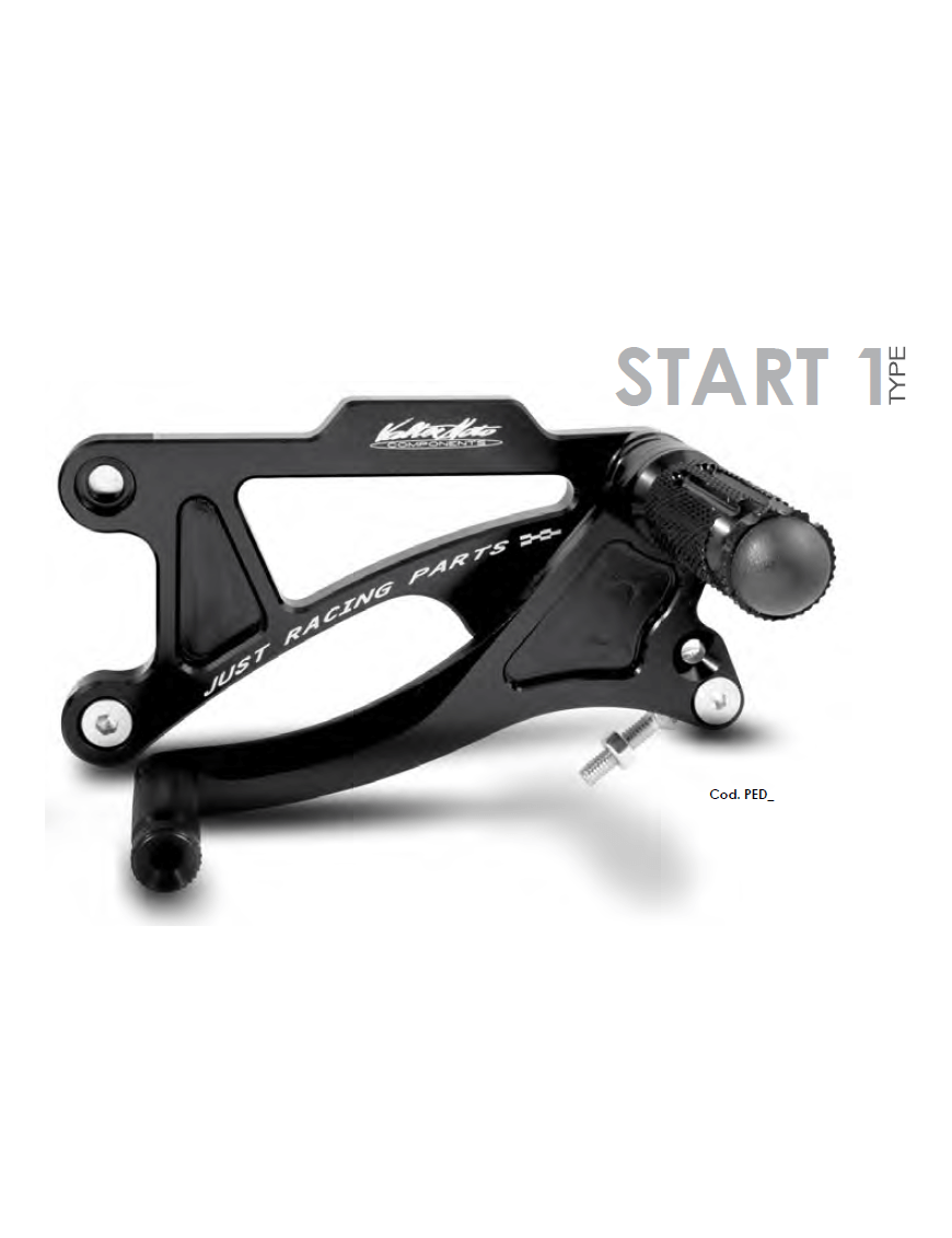 Rearset Valter Moto Type 1 Aprilia RSV1000 98-03