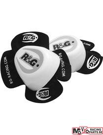Sliders pour genou R&G blanc (la paire)