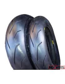 "Set of tyres PMT ""Blackfire"" 100/90/12 - 120/80/12"
