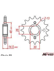 Pignon JT Sprocket JTD339 Honda