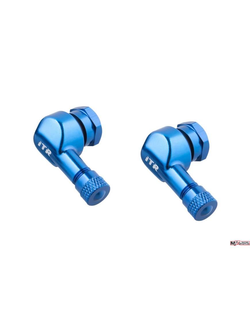 Set of 2 valves 90° aluminum - Blue