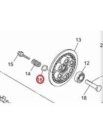 Spring washer seat clutch plate Yamaha YZF-R6  2006 to 2016